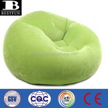 flocking inflatable round sofa chair plastic big round folding chair - Round Sofa Chair