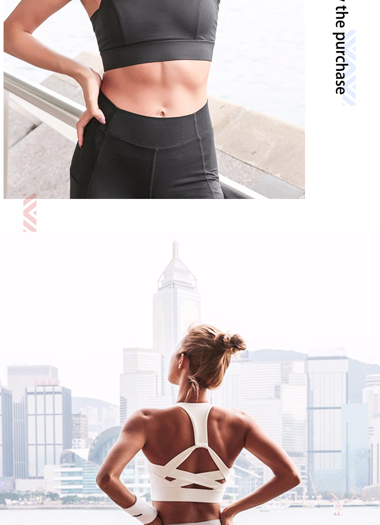 Women bamboo custom sports bra and spandex sexy yoga bra