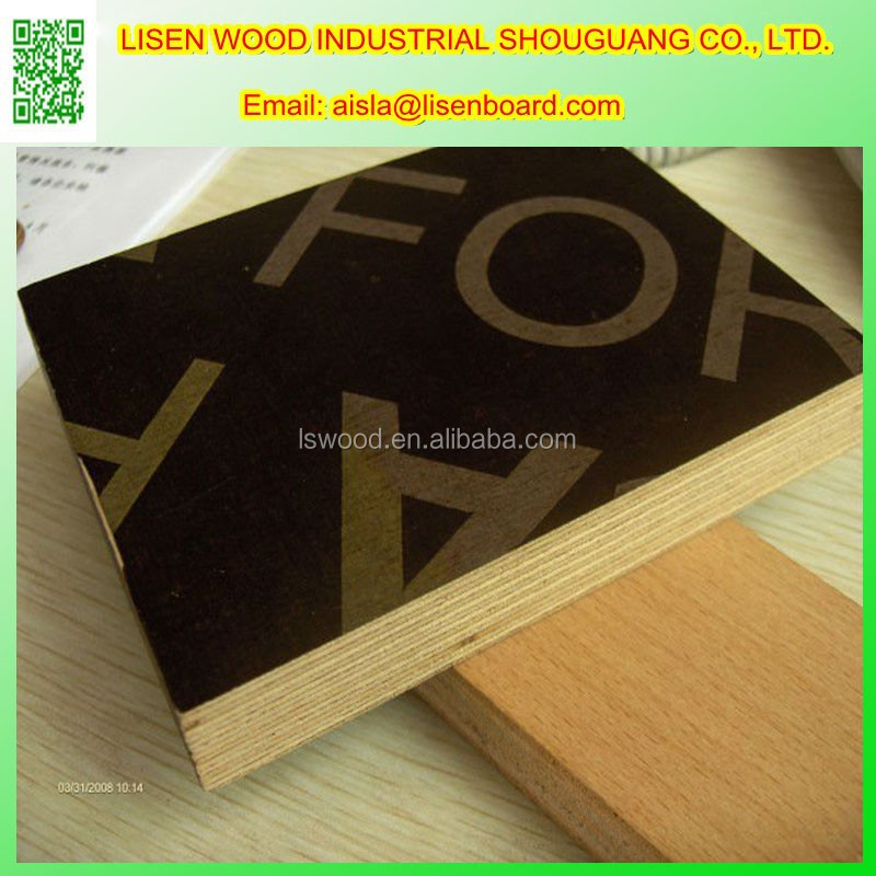 18mm Phenolic Surface Film (PSF) faced plywood, Laminated Plywood for Form Work Construction