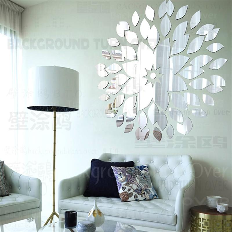 Diy Wall Art For Living Room: Creative DIY Acrylic Decorative Wall Mirror Surface