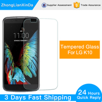 2.5D Curved 9H Hardness 0.33mm Thickness Wholesale Tempered Glass Screen Protector for LG K10