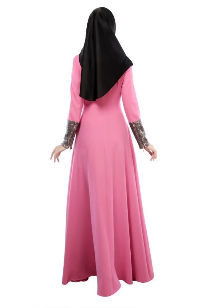 WS377 tela cruzada moderna musulmana abaya islámico moda vestido ...