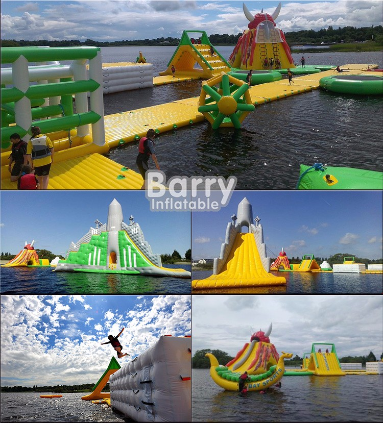 Giant Inflatable Water Park China factory for adults, Floating Inflatable Aqua Park Adventure water Sports