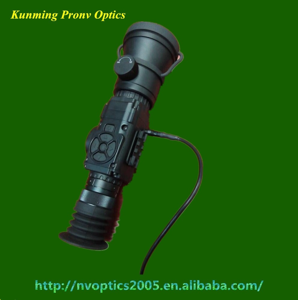 thermal rifle scope with video output/night vision for hunting/military