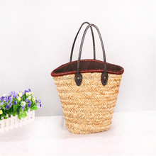 simple large summer natural straw tote bags