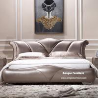 Foshan Modern design Bedroom Furniture Sleigh Beds