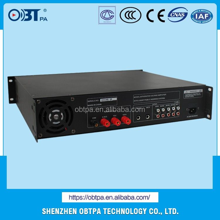 CE Certificate 150W Audio Mixer Amplifier with 5 Lines Input OBT-6150