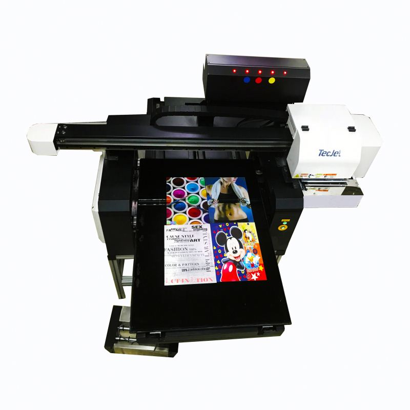 TECJET A1 size flatbed uv printer digital leather bag printing machine