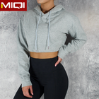 Wholesale Womens Yoga Track Suit Workout Gym High Quality Winter Athletic Sports Cotton Crop Top Hoodie