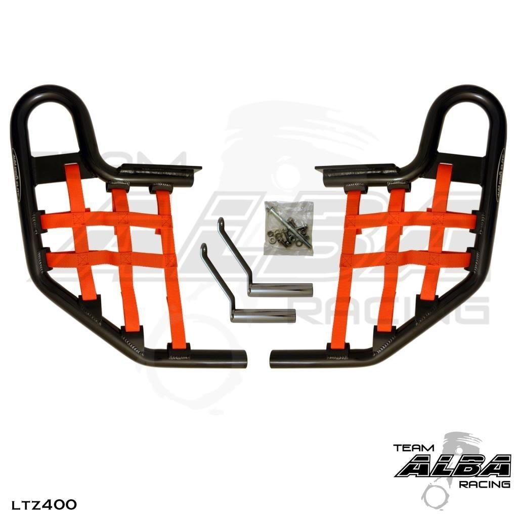 2009-2012 Suzuki LTZ 400 Propeg Nerf Bars Black Bars w//Black Net