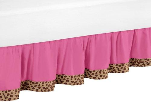 Sweet Jojo Designs Cheetah Girl Pink and Brown Queen Bed Skirt