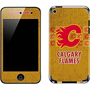 NHL Calgary Flames iPod Touch (4th Gen) Skin - Calgary Flames Vintage Vinyl Decal Skin For Your iPod Touch (4th Gen)