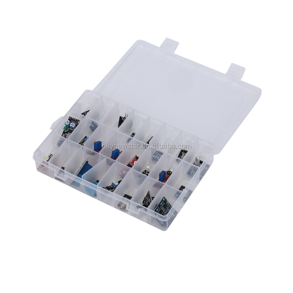 OEM/ODM 24pcs Sensor Module DHT11 LED DS1307 Relay Buzzer Module Sensor Kit for Arduino