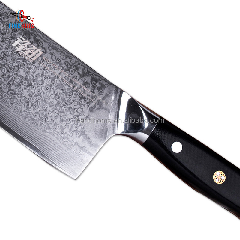 FINDKING G10 handle damascus knife 7 inch Professional butcher knife 67 layers damascus steel kitchen knife Cleaver фото