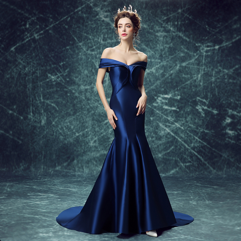 785efe4858d9 Occasion  Formal Evening Item Type  Evening Dresses Waistline  Natural  is customized  No Brand Name  SSYFashion Fabric Type  Satin Dresses Length   ...
