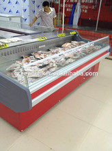 Hot sell commercial fresh meat display case/open cooler for meat