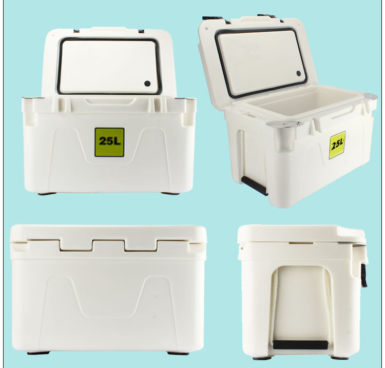 Equipped to Roll with Sturdy Wheels Beer Ice Chest Cooler for Solo Carry