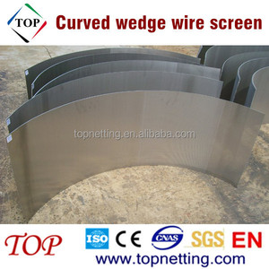 Stainless steel curved wedge wire screen