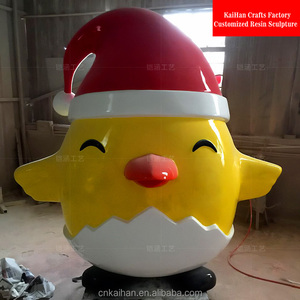 indoor Fiberglass chicken sculpture