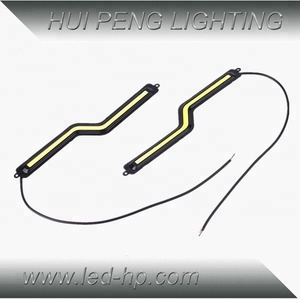 Z shape cob drl light daytime running light waterproof car led light