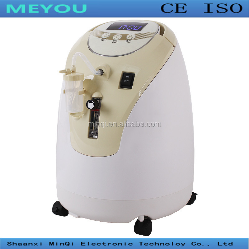 1-5L/min adjustable small smart best quality lowest price CE ISO approved household medical portable oxygen concentrator