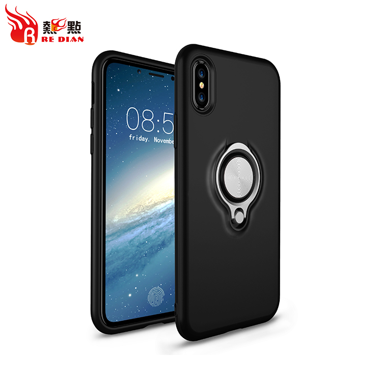 For iphone X phone case shock proof private label luxury,for iphone X ring phone case shockproof
