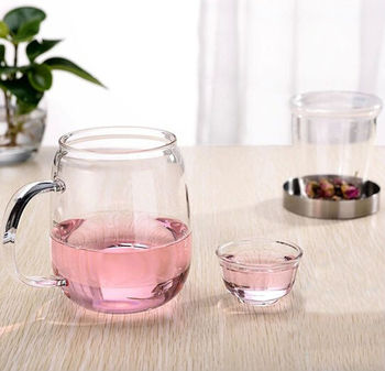 Samadoyo Office Use Clear Gl Tea Cup With Infuser Filter Handle Whole Price