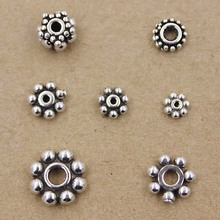 925 Sterling Silber <span class=keywords><strong>Spacer</strong></span> Perlen 7mm Daisy <span class=keywords><strong>Spacer</strong></span> Silber Erkenntnisse SIL122