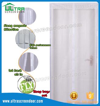 Fly Proof Screen Mesh Magnetic Screen Door For Sliding Door, Patio Door