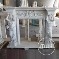 hand carving natural stone antique fireplace surrounds