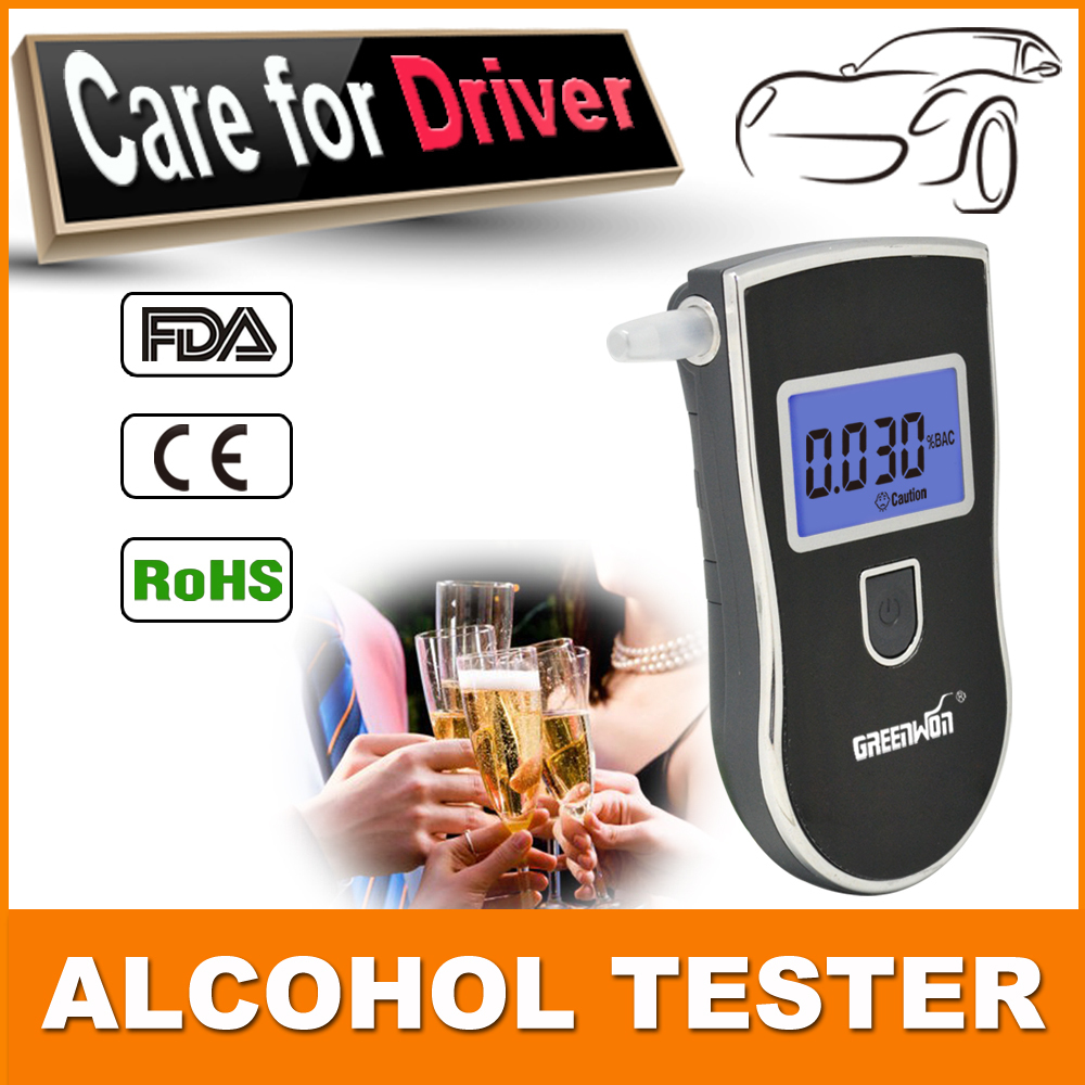 Патент жк-профессиональная полиция тестер спирта дыхания цифров автомобиля гаджет портативный алкотестер AT818 с 5 мундштуки прямая поставка