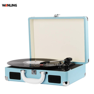 Vinyl variable speed Crosley suitcase record player with turntable stylus