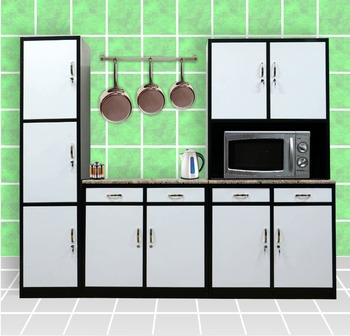 Complete Kitchen Cabinet Sets Metal Cabinets Set Aluminium