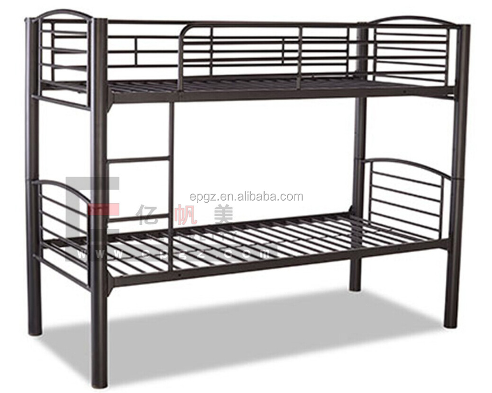 metal heavy duty adult iron steel double bunk bed for school dormitory or army or hotel and camp. Black Bedroom Furniture Sets. Home Design Ideas