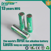 flat aa alkaline battery flat top 1.5v lr6 batteries