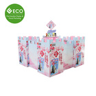 New Design Adorable Customized Logo Castle Shaped Snack Food Pop Cardboard Pallet Display Stand For Supermarket Promotion