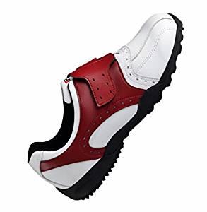 Shangtom416 Golf Shoes Men Golf Shoe 02 Breathable No-Slip Wear Resistance Red US8.5 EU42 UK8