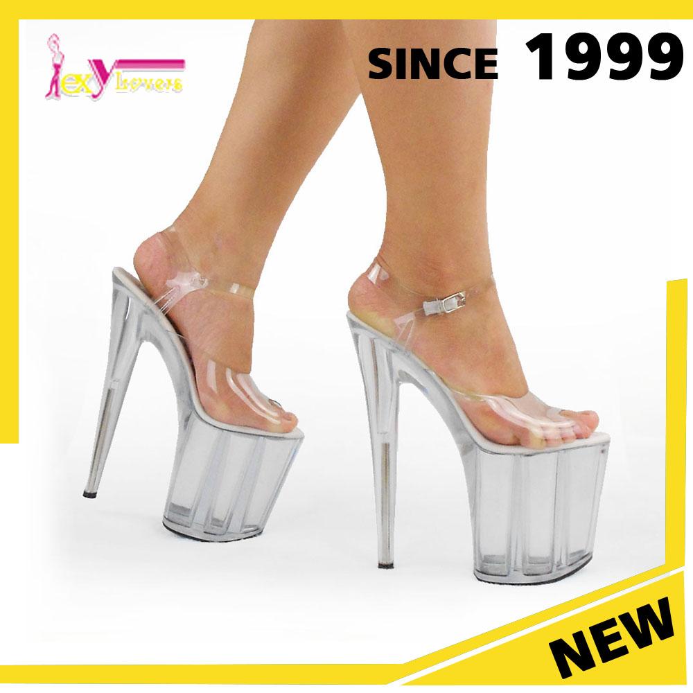 af85462c0e 20 cm Alibaba atacado China novo pole dance sapatos plataforma sandálias de salto  alto sexy ladies