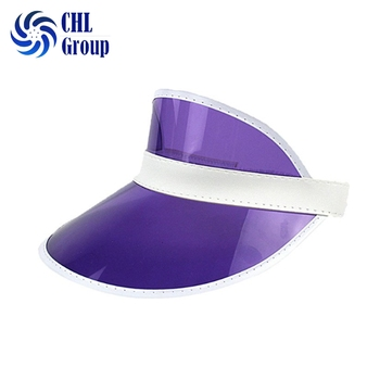 Hot Selling Adjustable Clear Plastic Pvc Material Sun Visor Cap ... e0e8f4c49dc4