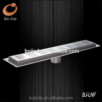 100mm width linear stainless steel floor drain