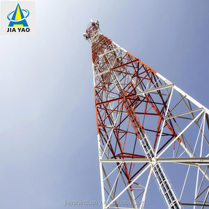 300 feet stand alone four legged angular pure steel tevelisions 5ghz radio transmission antenna bts base station mast tower