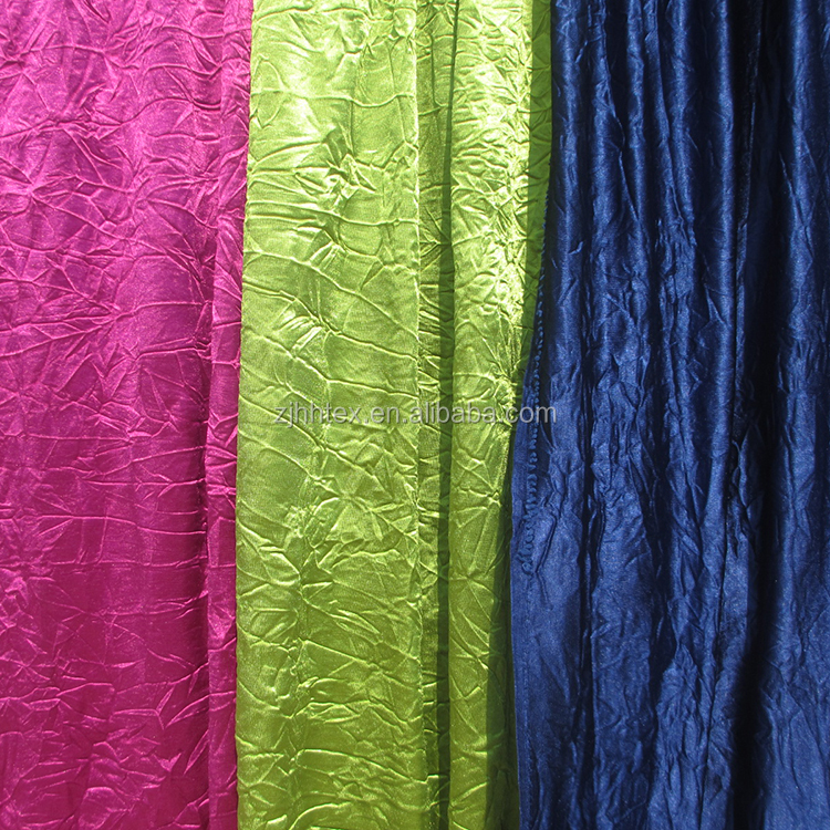 Colorful polyester knitted sheer continuous living room curtain fabric