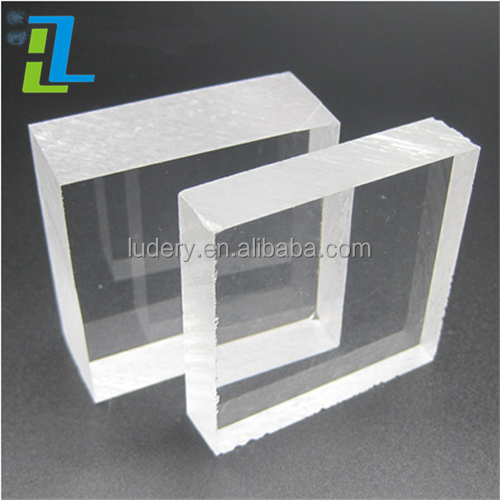 High Transparence blue color PMMA Board 18mm Clear Cast Acrylic Sheet