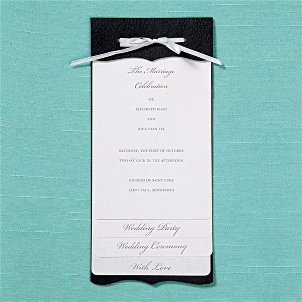 Gartner Studios Brides Black/White Multilayered Program/Invitation Paper (40 Count)
