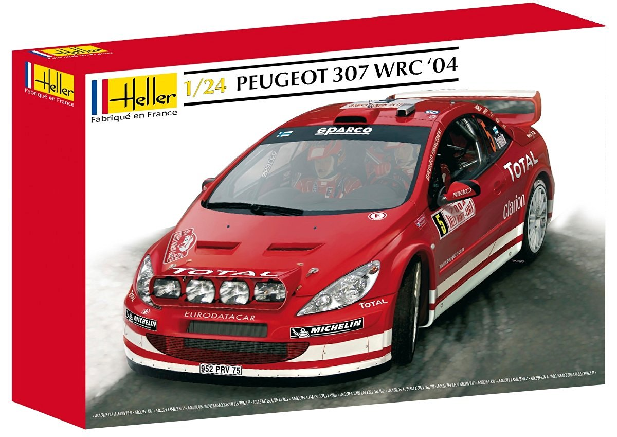 Heller Peugeot 307 WRC 04 Car Model Building Kit (63-Parts)