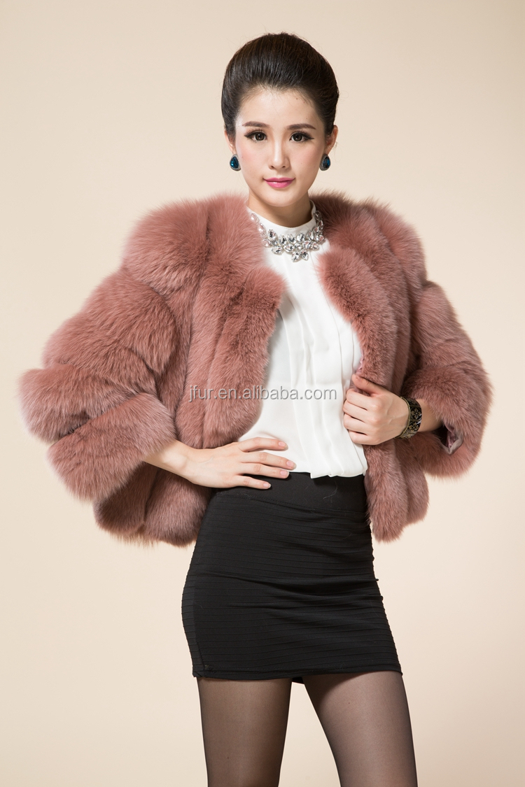 Women Fashion Winter Fox Fur Coats New Jacket Short Style Warm Fur ...