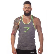 New Brand Gym Shark Singlets Mens Tank Tops Shirt  Bodybuilding Equipment Fitness Men's GYM Tanks Sports Clothes Freeshipping