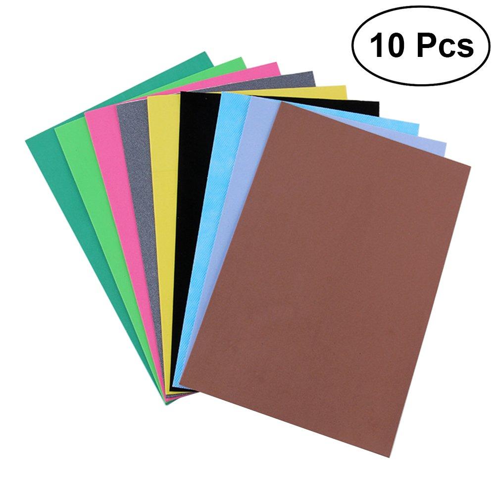 ULTNICE DIY Foam Sheets Paper for DIY Craft Home Decor Assorted Colours Pack of 10