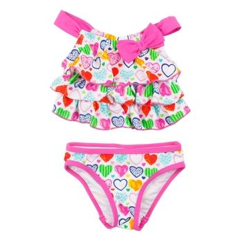 3417b133454 2018 Two Piece Swimsuit Children Beachwear Baby Bikini Swimwear Children  Girl Cute Kids