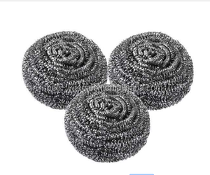 Galvanized iron mesh cleaning scourer/scrubber with good quality